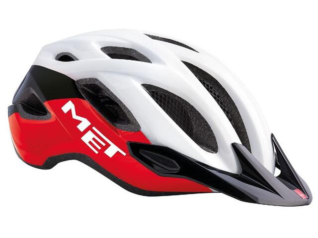 MET Crossover Helm black/red